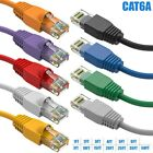 1ft-50ft Cat6A Network Ethernet Modem Molded Patch UTP Cable Gold Plated RJ45