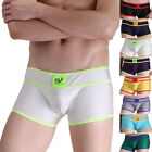Sexy Mens Comfortable Underwear Boxer Briefs 8Colors Soft Cotton Trunks New S-XL
