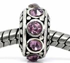 European Birthstone Charm Spacer Beads compatible with all Major Bracelets