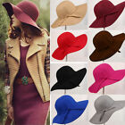 Magik Vintage Women Wide Brim Floppy Warm Wool-look/effect Hat Trilby Bowler Cap