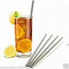 Straight 12mm Stainless Steel Metal Drinking Straws Packs Re-usable eco friendly
