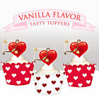 Valentines Day Cupid bow arrow Red Heart Party wafer Cupcake Topper cup cake