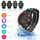30M Waterproof Boy Mens Women Digital LED Alarm Date Sports Military Wrist Watch