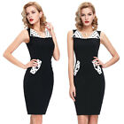 Womens New Office Lady Business Work Slim Fit Bodycon Party Evening Pencil Dress