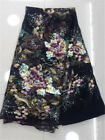 GORGEOUS TULLE EMBROIDERED FLORAL BRIDAL DRESS MESH LACE FABRIC 5YDS LOT