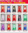 Party Pack - 20pcs superhero capes for kids Birthday party supplies (Only Capes)