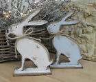 WOODEN HARE, Rabbit, Chic & Shabby, Choice of finish,