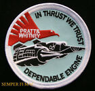 SR-71 BLACK BIRD IN THRUST WE TRUST ENGINE PATCH US AIR FORCE SKUNK WORKS AFB
