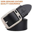 large size Fashion  Top quality Mens Belt 100% Genuine Leather Waist 30-48""