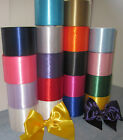 "SATIN SASH RIBBON 4"" (100mm) EXTRA WIDE-OVER 20 BEAUTIFUL COLOURS FREE POST"