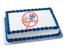 New York Yankees MLB NY baseball image cake topper frosting sheet #4642 on Ebay