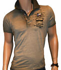 Poloshirt T Shirt Camp David Green Label American Oil Rush Oil Field Neu