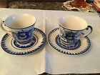Russian GZHEL Porcelain Cups and Saucer Sets Chamomile - RARE 39.99