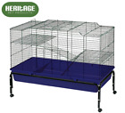 HERITAGE RABBIT 100 LARGE DOUBLE INDOOR CAGE DOUBLE GUINEA PIG RODENT HUTCH HOME