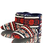 MENS DUNLOP BOOT SLIPPERS WARM COSY FAIRISLE FLEECE LINED ANKLE ESKIMO BOOTS