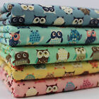 CT Wise Owls 100% Cotton Japanese Fabric birds