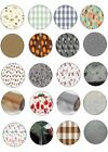 ROUND ALL OCCASIONS TABLE CLOTH PROTECTORS OIL VINYL PLASTIC CLOTH PRINTED CLEAR