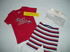 NWT GYMBOREE DIRT MAGNET TRUCK STRIPE 2 PIECE SHORTS GYMMIES PAJAMAS SUMMER
