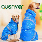 Pet Dog Rain Coat Apparels Puppy Dog Raincoat Blue Raincoat Hoodies Clothes
