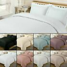 Satin Stripe Quilt Duvet Cover with Pillow Case Bedding Set Single Double King