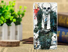 Fashion Painted Skull Pattern Skin Back PC hard Case Cover For Huawei Phone