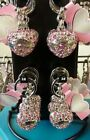 Telegram - Heart Keychain with rhinestones in pink Heart 1-16 NEW