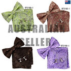 EBC1B13 Excellent Paisley Silk Pre-tied Bow Tie Cufflinks Hanky Set By Epoint