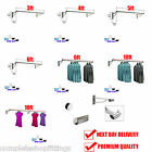 Wall Mounted Hanging Clothes Rail Garment Display Rack 3ft -10ft Shops & Home