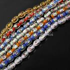 "Multicolor Rice Lampwork Glass Flower Loose Beads 15.5"" 1 Strand Womens Jewelry"