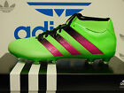 NEW ADIDAS Ace 16.2 Primemesh FG/AG Men's Soccer Cleats - Green/Black;  AQ2552