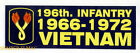 196TH INFANTRY BRIGADE BUMPER STICKER VIETNAM US ARMY ZAP DECAL PIN UP GIFT WOW
