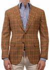 Sartoria PARTENOPEA Hand Made Brown Plaid Cashmere Jacket Sports Coat
