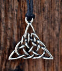 Triangular Celtic Knot Pewter Pendant 1 1/2 Inch (38 mm) x 1 1/2 Inch (38 mm)