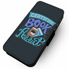 Certified Book Addict  -Faux Leather Flip Phone Cover Case- Read Imagine Inspire
