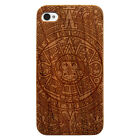 Laser Engraved Wood Phone Case - Aztec Mayan Calendar LW0220