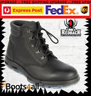 New Redback Work Boots UABK Outback Black Leather Lace Up Boot Emergency Police