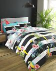 #Bedding Tropix, bold stripe and tropical Bed set, duvet cover and pillow cases