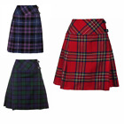 "New Ladies Scottish 20"" Knee Length Kilt Mod Skirt Range of Tartans Size 6-18"