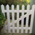 White Primed Wooden Picket Gate 3ft wide