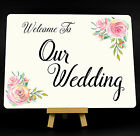 Wedding Roses Welcome To Our Wedding Metal Plaque Sign