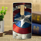 Captain Pattern Painted Shield Back Skin TPU Soft Case Cover For LG Phone