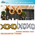 "16""/40"" Golden/Silver Foil Balloon Letters "" XOXO"" Set Wedding Decoration"