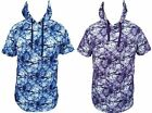 PJ Mark Mens Tie Dye Printed Shortsleeve Hoodie Hip Hop Swag Apparel Med-3X