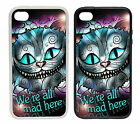 Cheshire Cat Designs -Rubber and Plastic Phone Cover Case Alice Pink Blue Style