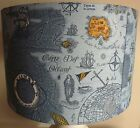 Vintage Map Lampshade,lampshade blue nautical  map  Shabby Chic  Free Gift