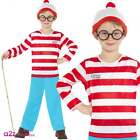 Where's Wally? World Book Day Fun Licensed Kids Boys Costume Sizes 4-12 Years