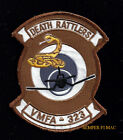 VMFA-323 DEATH RATTLERS PATCH US MARINES VETERAN GIFT PIN UP USS MCAS MAW WOW