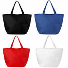 PACK OF 5 MARYVILLE TOTE SHOPPER BAGS- SCHOOL, BUSINESS, WORK -  4 COLOURS