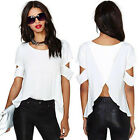 Sexy Women's Loose Chiffon T Shirt Tops Short Sleeve Off Shoulder Casual Blouse