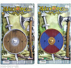 Boys Viking Sword Set Shield Kids Axe Toy Medieval Anglo Saxon Weapons Knight
